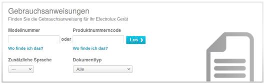 Electrolux Gebrauchsanweisung Download
